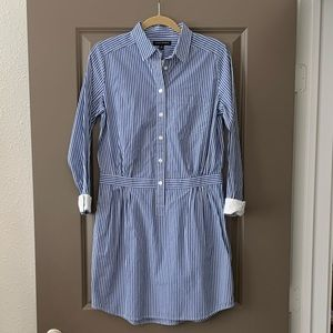 Banana Republic Blue Striped Shirt Dress